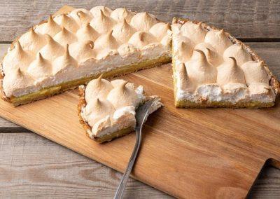 Vanilie cheesecake med marengs